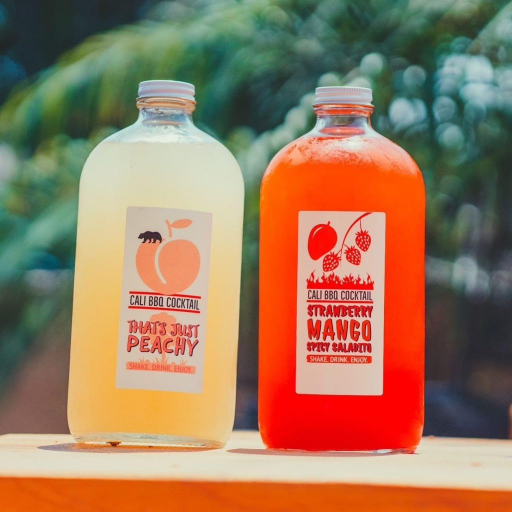Cali bbq summer cocktails for pickup and delivery in san diego area