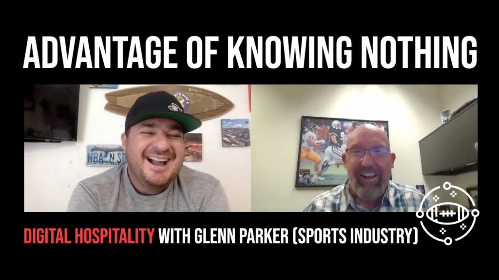 Glenn Parker was a guest on the Digital Hospitality podcast where he talked with host Shawn Walchef about his fascinating career in the sports industry, career evolution, and his growth mindset.
