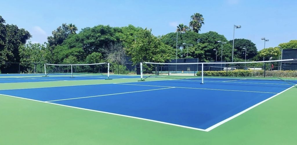 Barnes tennis center courts daytime