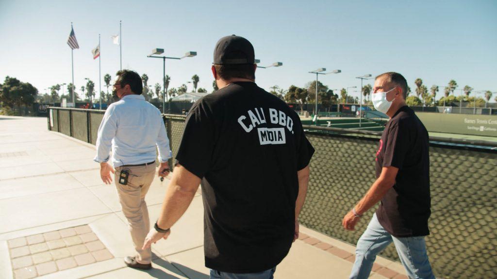 Barnes tennis center tour walking