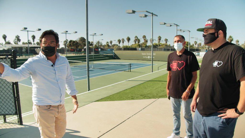 Ryan redondo at barnes tennis center