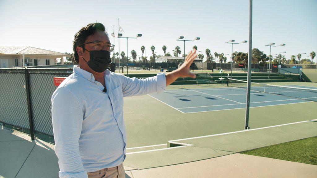 Dh056 barnes tennis center bts tour ryan redondo talking