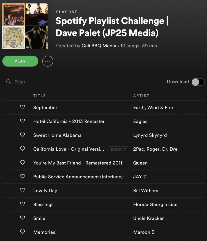 Dh064 dave palet spotify playlist challenge list