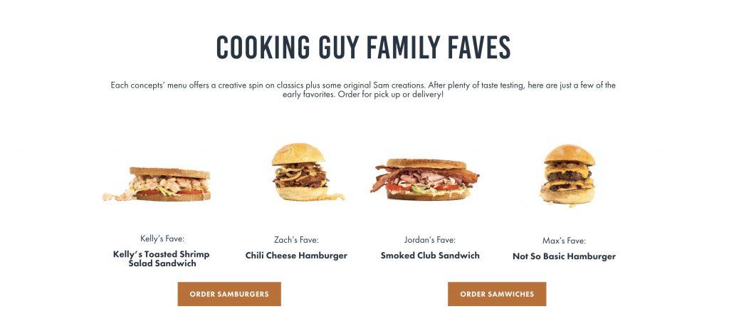 Dh066 eats by sam sandwich menu