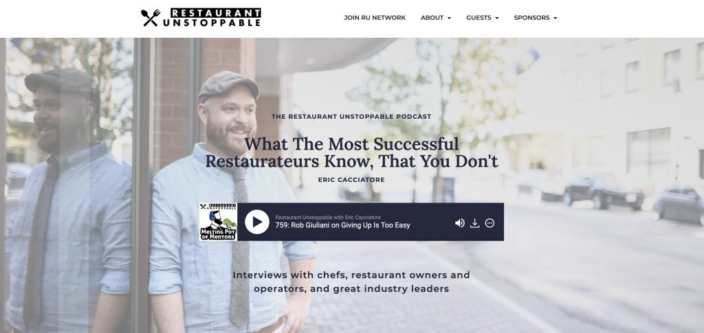 Restaurant Unstoppable Website Home