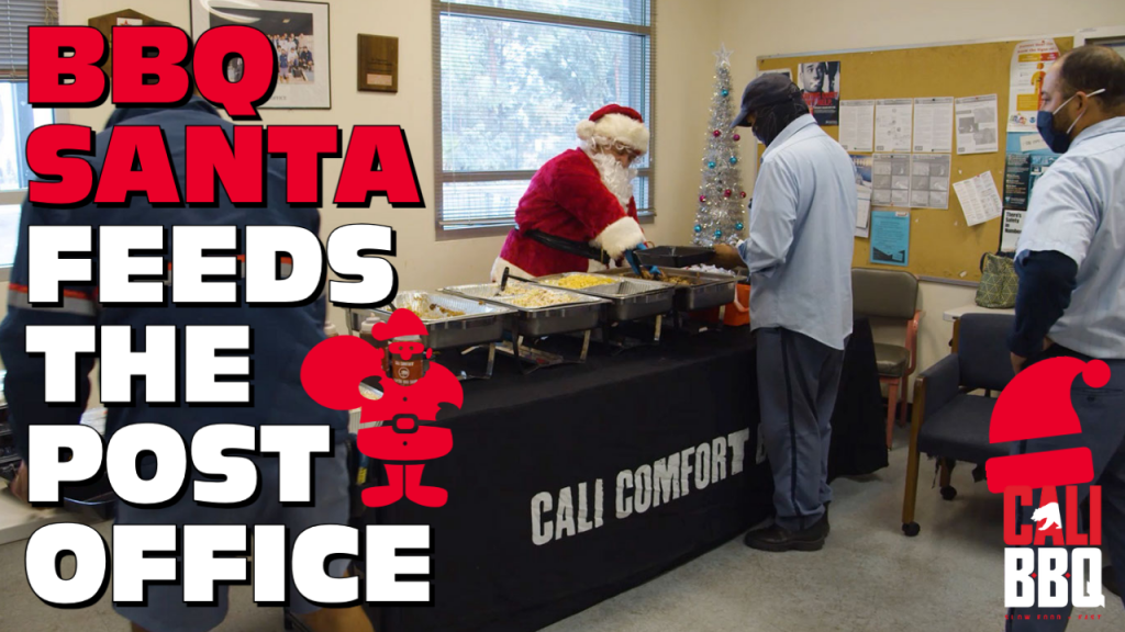 Bbq santa christmas post office gratitude video cover