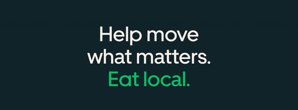 Uber eats eat local
