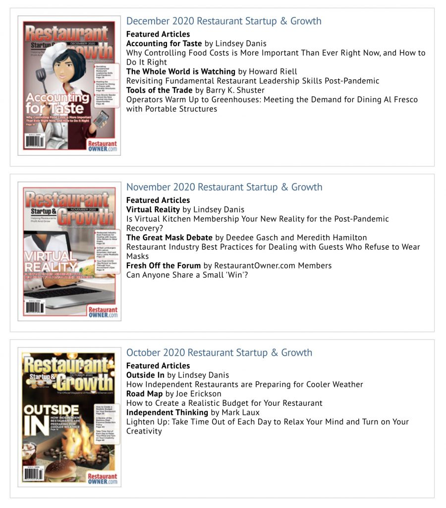 Rsg magazine recent issues