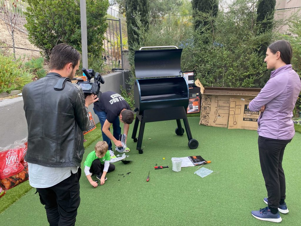 Rising tides creative traeger unboxing video shoot in january 2021
