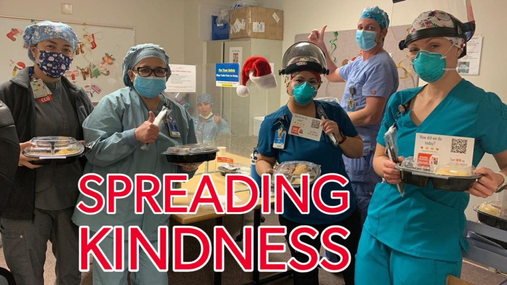 Spreading kindness campaign feeding essential workers at icu units in san diego. Find out how to donate in this article.