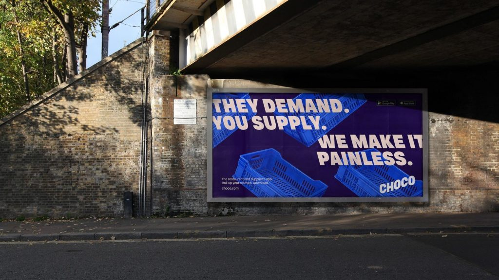 Choco billboard rebranding 2021