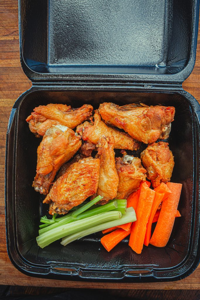 Takeout wings from cali bbq