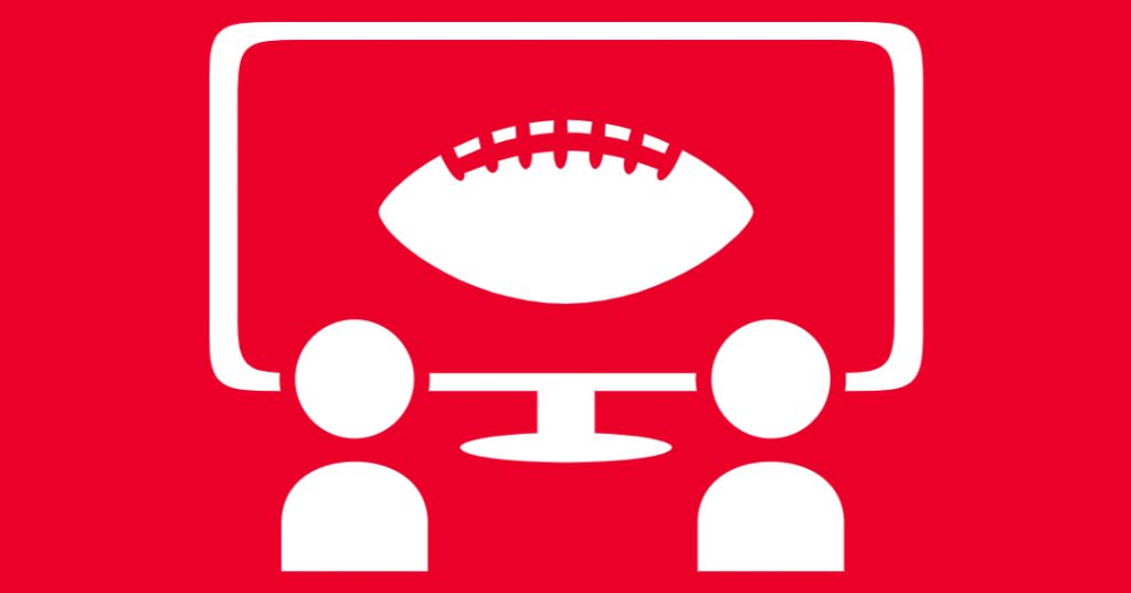 Super bowl 2021 on tv red graphic