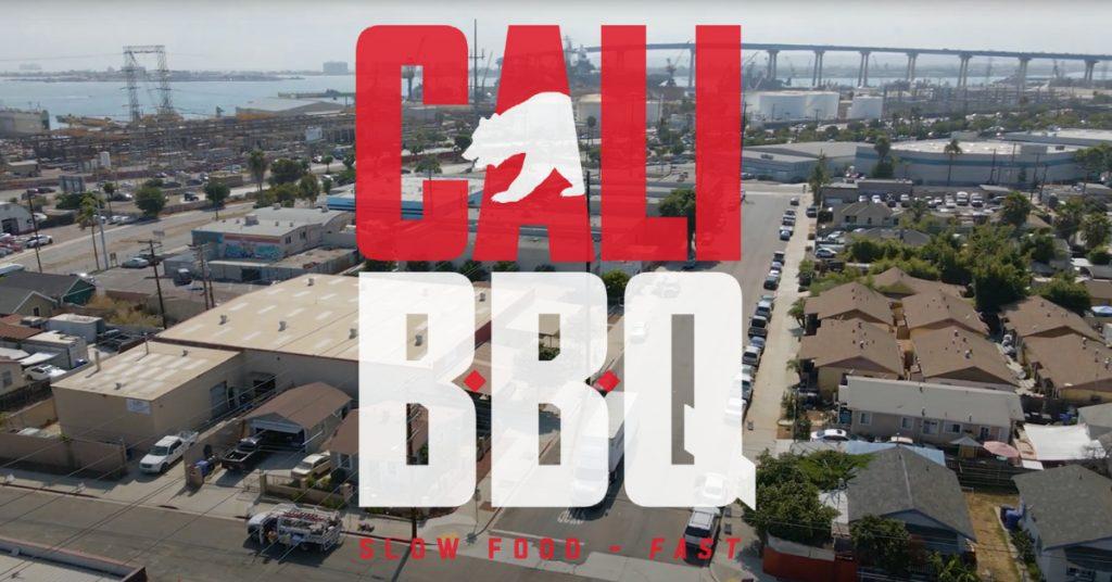 Cali bbq logo over barrio logan san diego