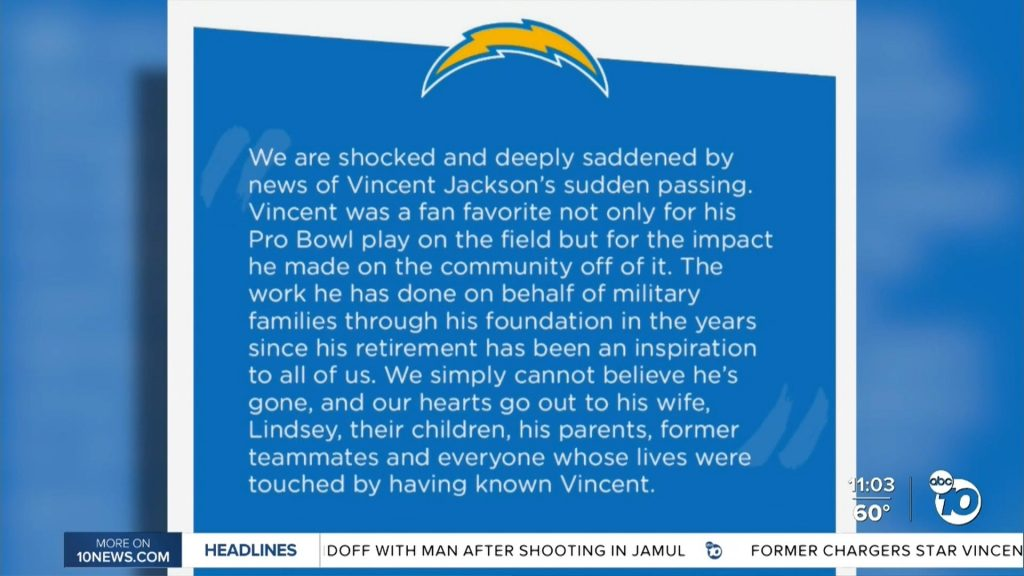 Remembering jackson chargers statement