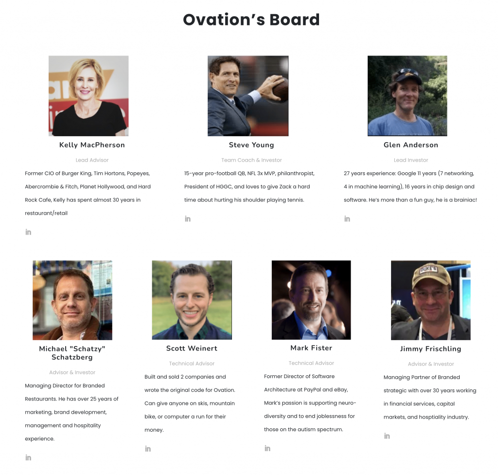 Ovation board of directors