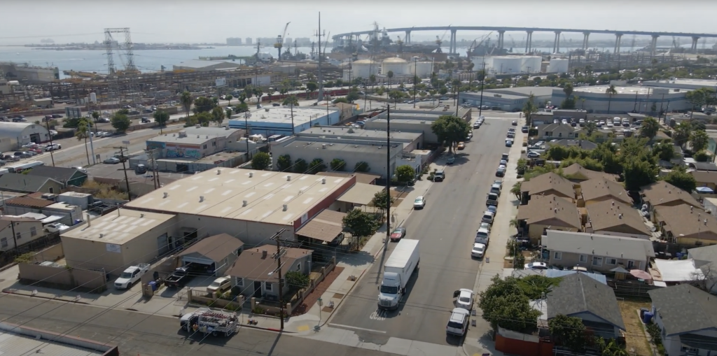 Barrio logan in san diego at the location of the barrio food hub featuring cali bbq