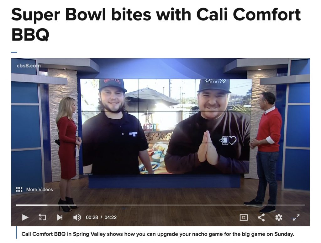 Super bowl bbq on the four with cali bbq in early february 2021