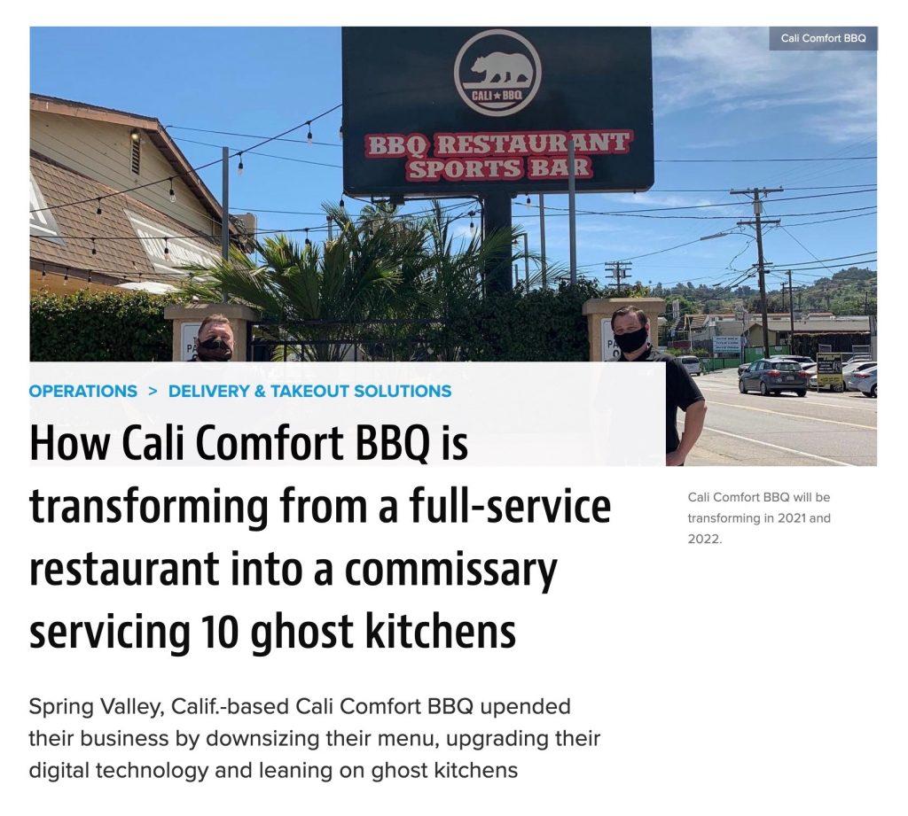 Cali bbq in restaurant hospitality january 2021