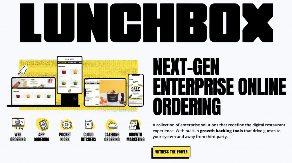 Lunchbox next-gen enterprise online ordering across multiple platforms
