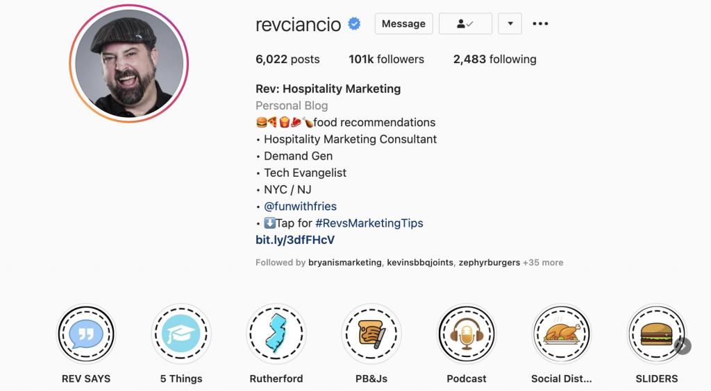 @revciancio on instagram