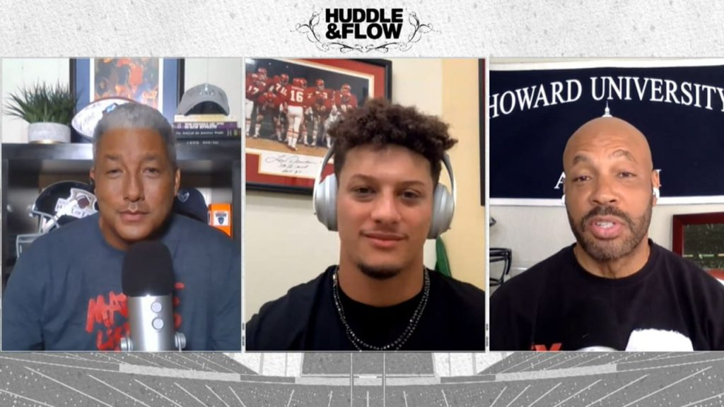 Patrick mahomes on the nfl huddle and flow podcast