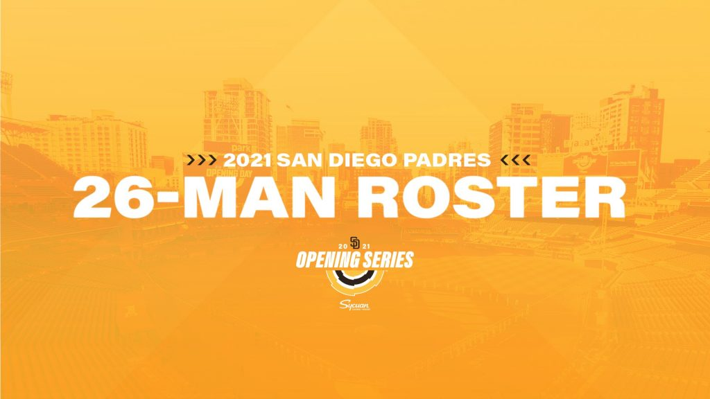 San diego padres 2021 opening day roster