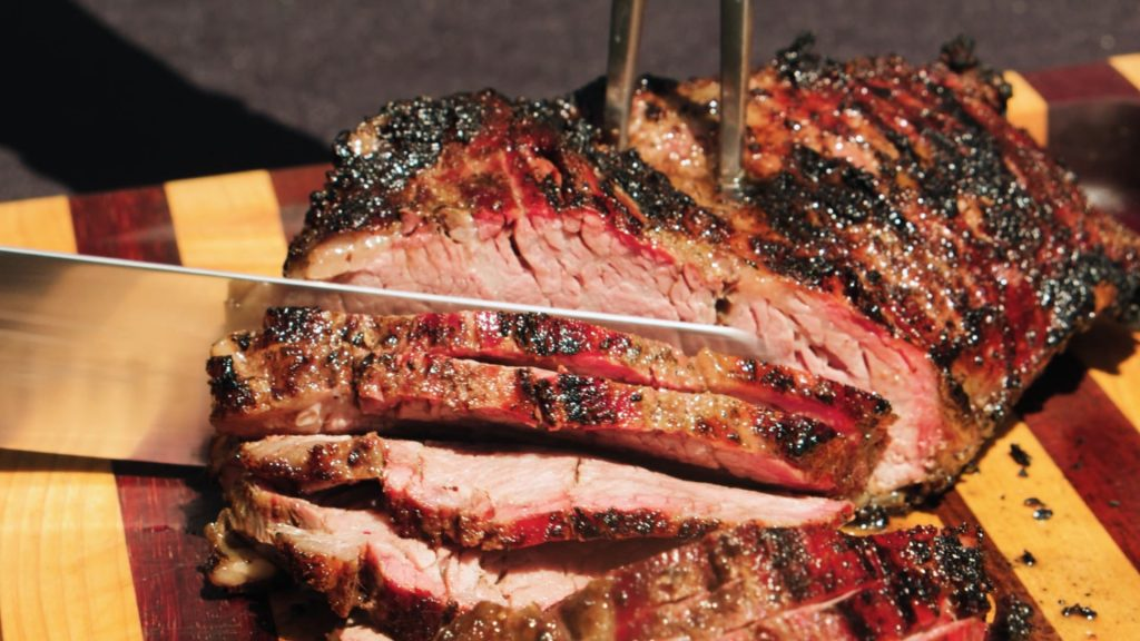 Slicing tri tip at cali bbq in spring valley