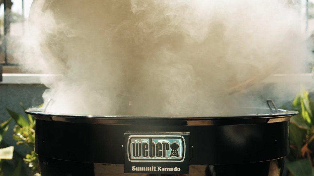 Weber summit kamado smoking