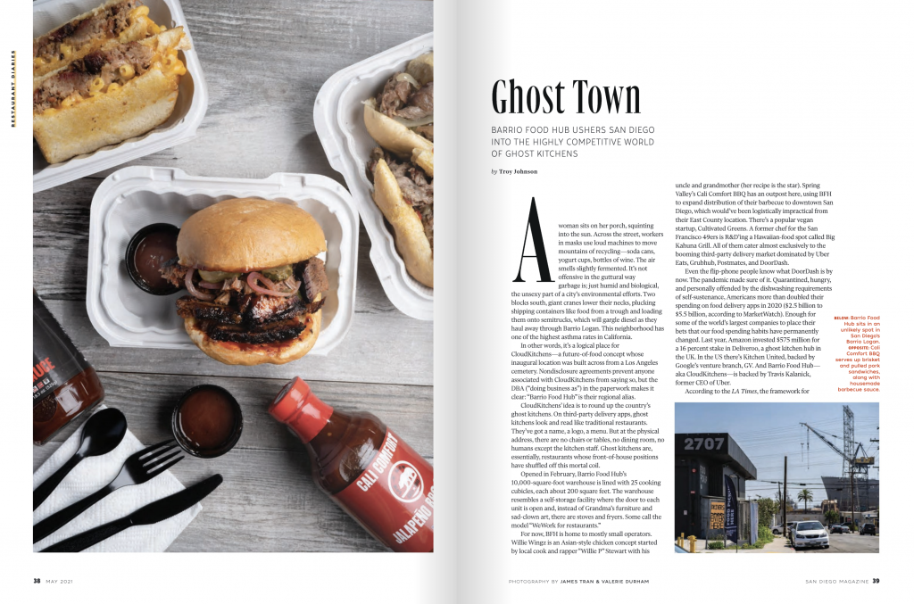 San diego magazine food article ghost town