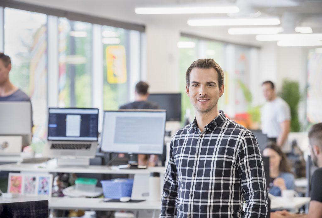 Jordan boesch at the 7shifts offices