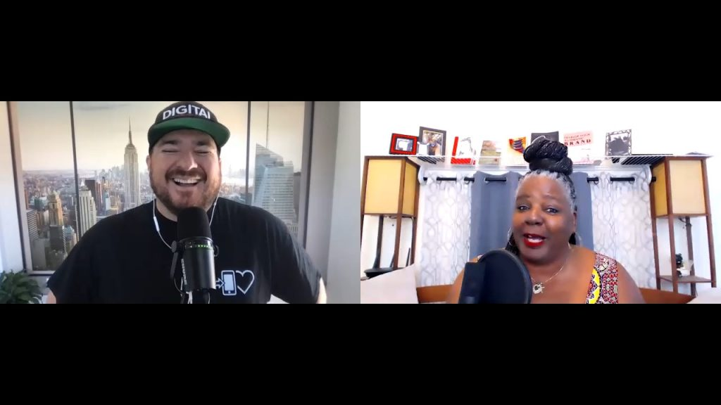 Phyllis williams-strawder talking on the digital hospitality podcast in july 2021
