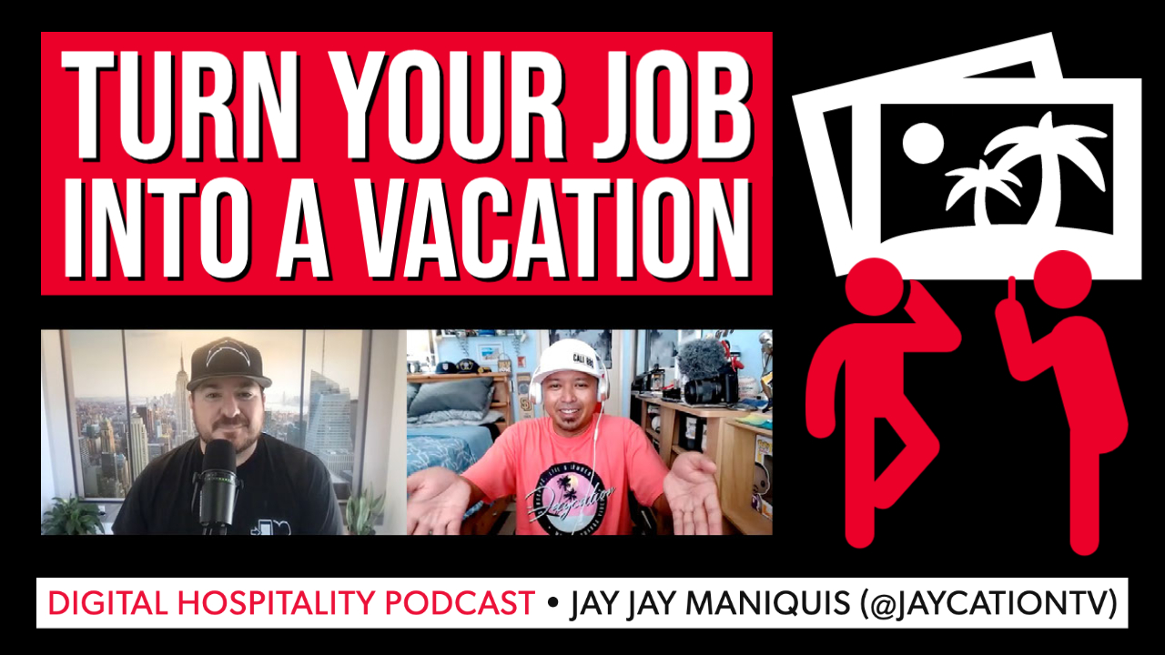 Jay jay maniquis jaycation interview on digital hospitality podcast