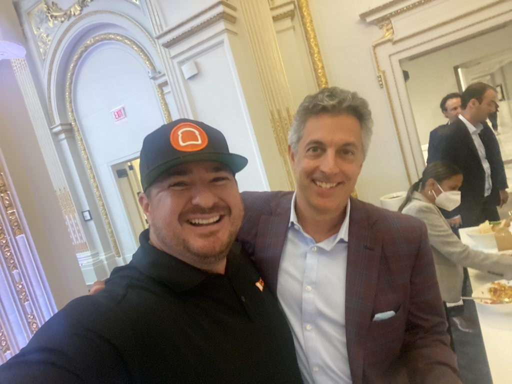 Shawn walchef and chris comparato at the new york stock exchange for the toast ipo on sept. 22, 2021