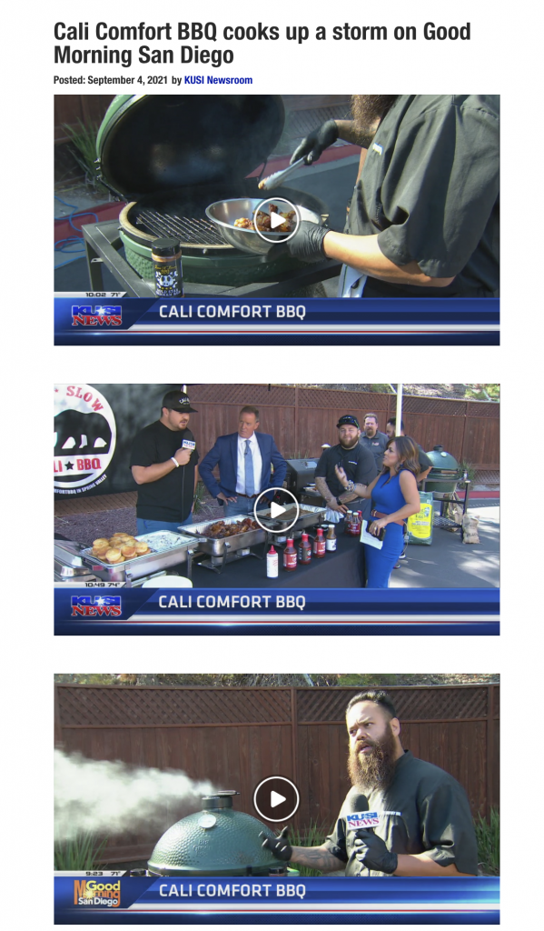 Labor day weekend bbq on kusi in san diego