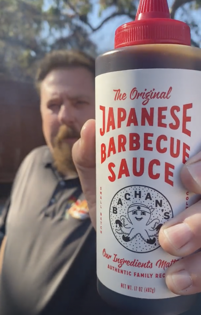 Japanese barbecue sauce from bachans at west coast bbq shop