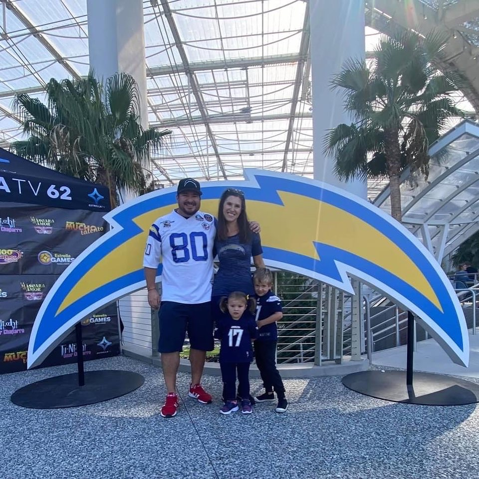 Bolt pride with the walchef wolfpack los angeles chargers