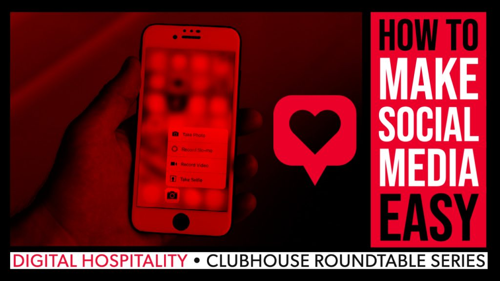 Clubhouse podcast roundtable - how to make social media effortless